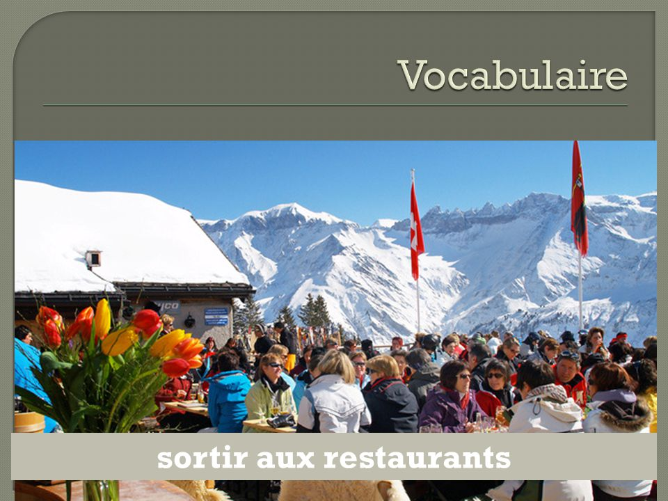 sortir aux restaurants