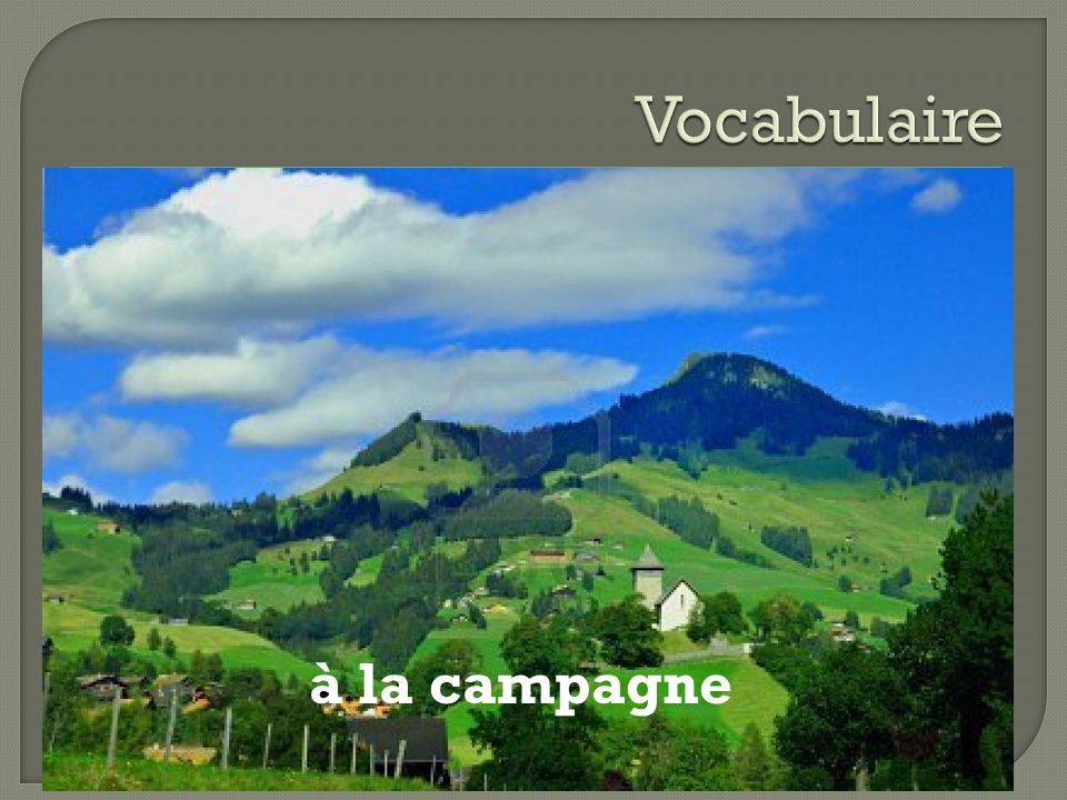 Vocabulaire à la campagne