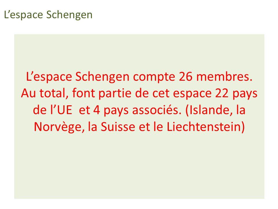 L'espace Schengen