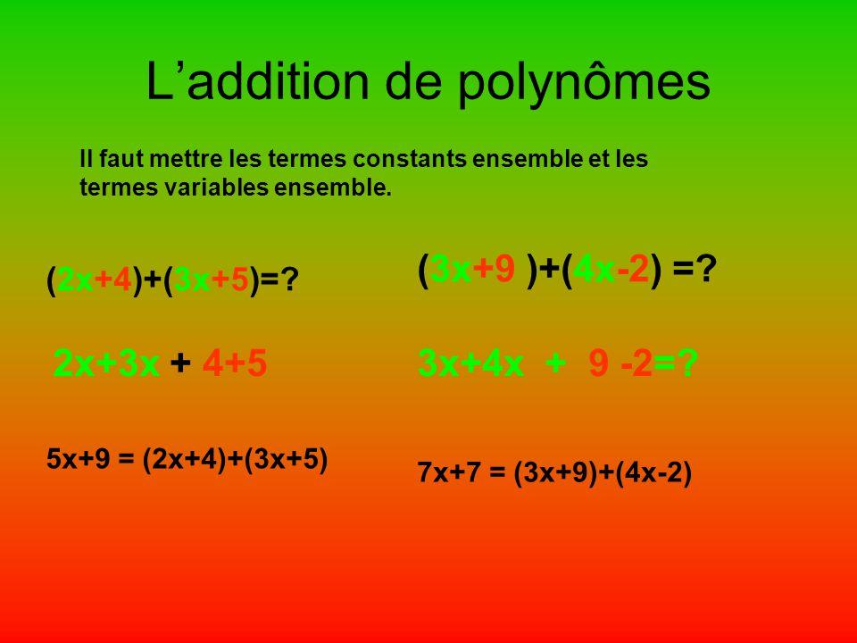 L'addition de polynômes