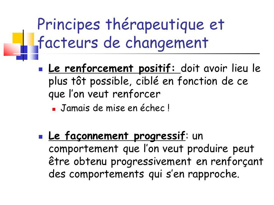 Principes thérapeutique et facteurs de changement
