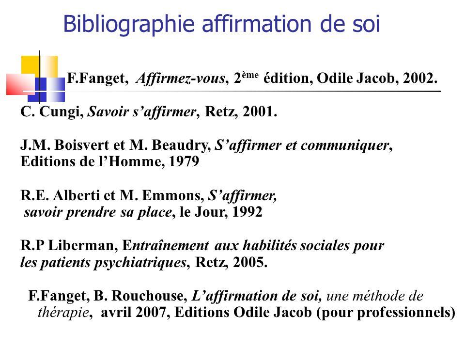Bibliographie affirmation de soi