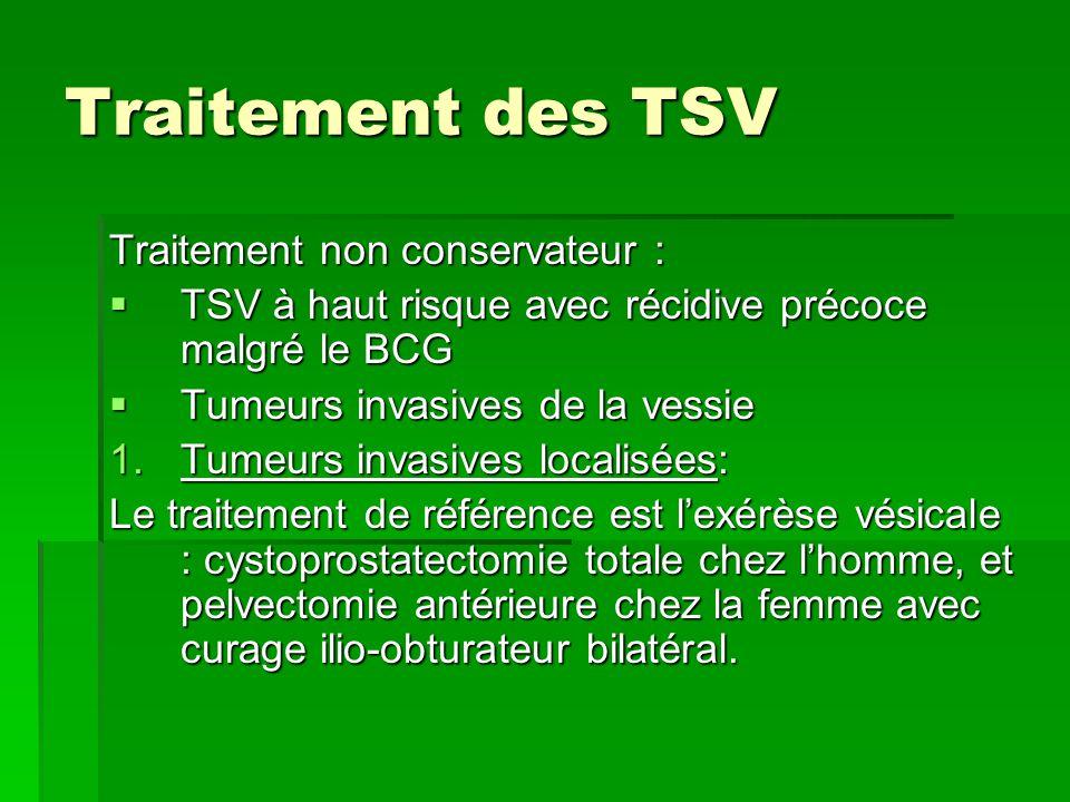 Traitement des TSV Traitement non conservateur :