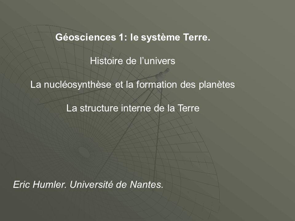 Géosciences 1: le système Terre.
