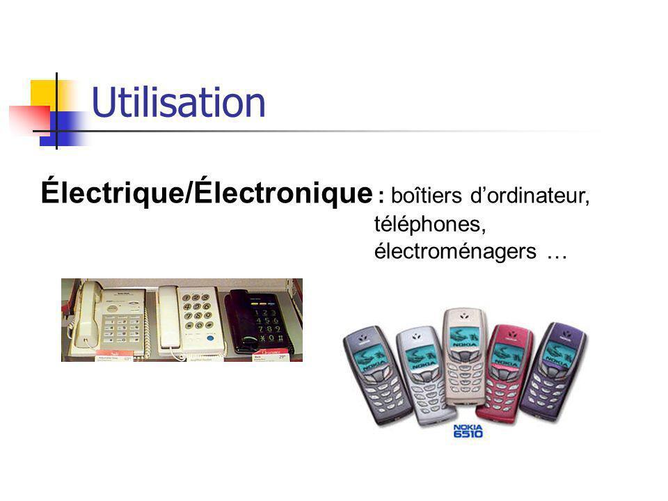 Utilisation Électrique/Électronique : boîtiers d'ordinateur,