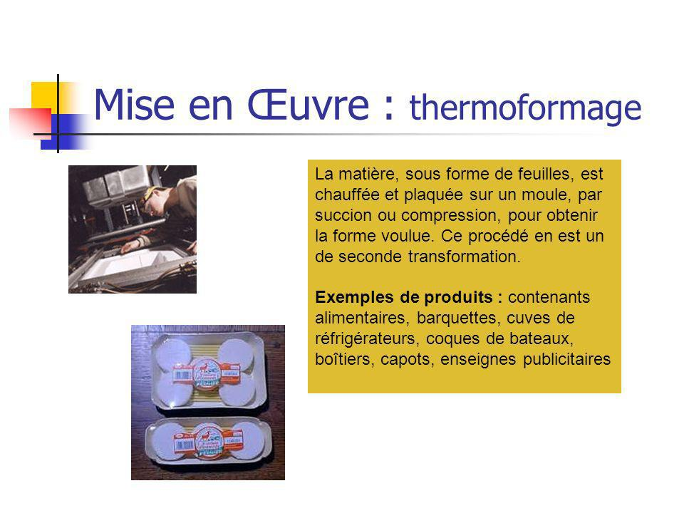 Mise en Œuvre : thermoformage