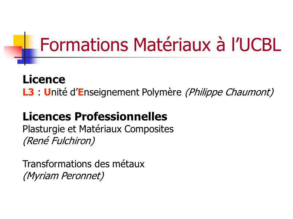 Formations Matériaux à l'UCBL