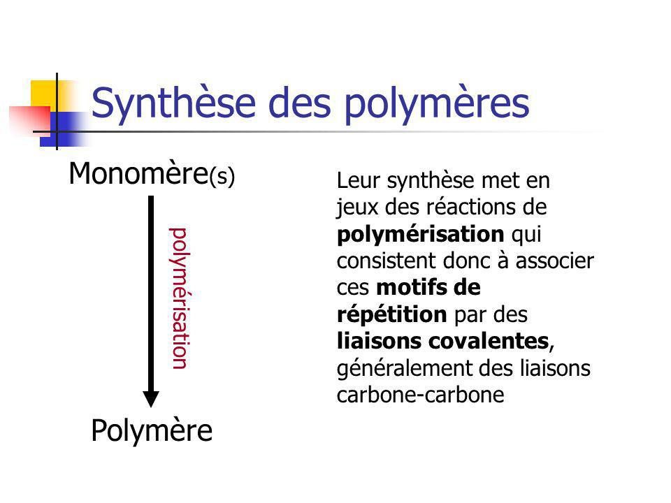 Synthèse des polymères
