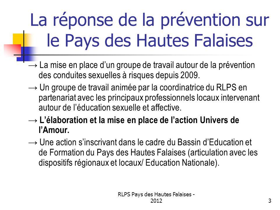 La réponse de la prévention sur le Pays des Hautes Falaises