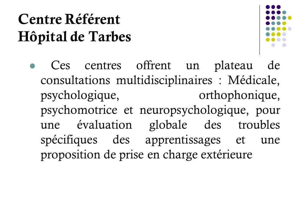 Centre Référent Hôpital de Tarbes