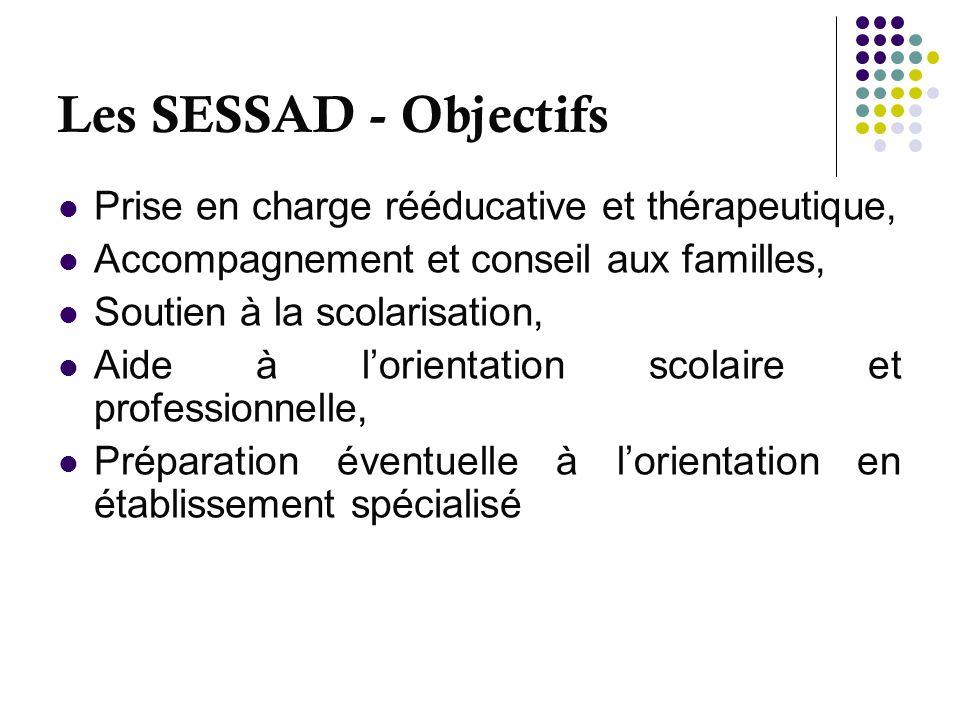 Les SESSAD - Objectifs Prise en charge rééducative et thérapeutique,