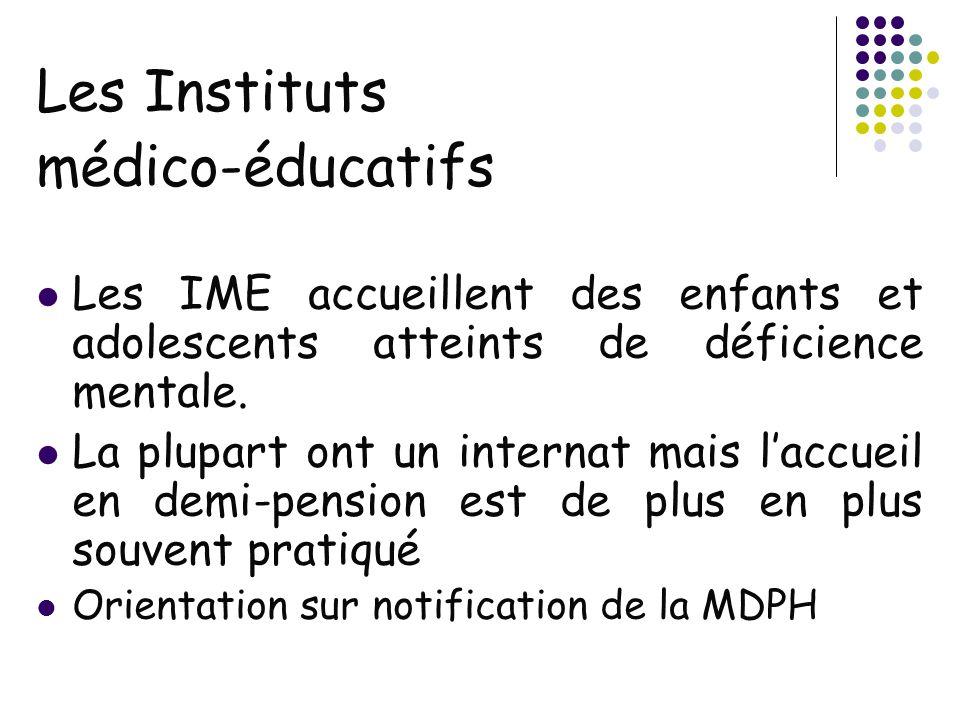 Les Instituts médico-éducatifs