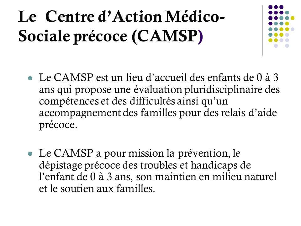 Le Centre d'Action Médico-Sociale précoce (CAMSP)