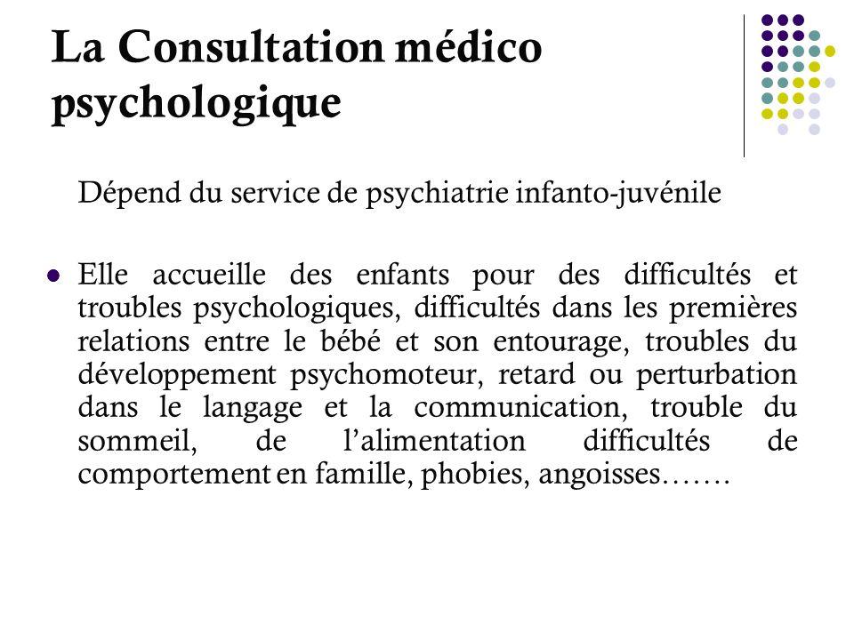 La Consultation médico psychologique