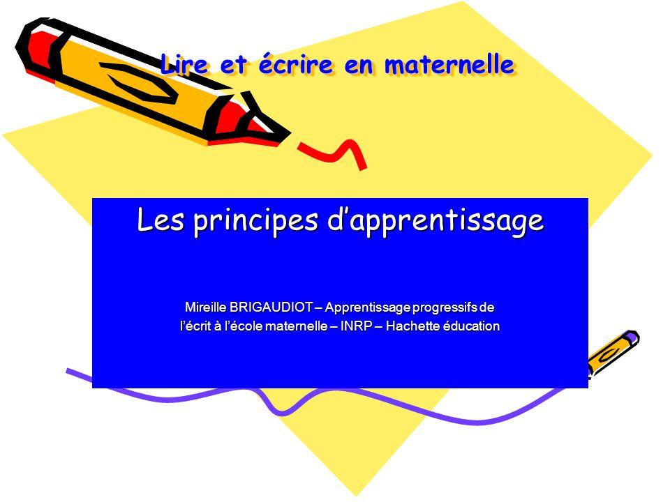 Lire et écrire en maternelle