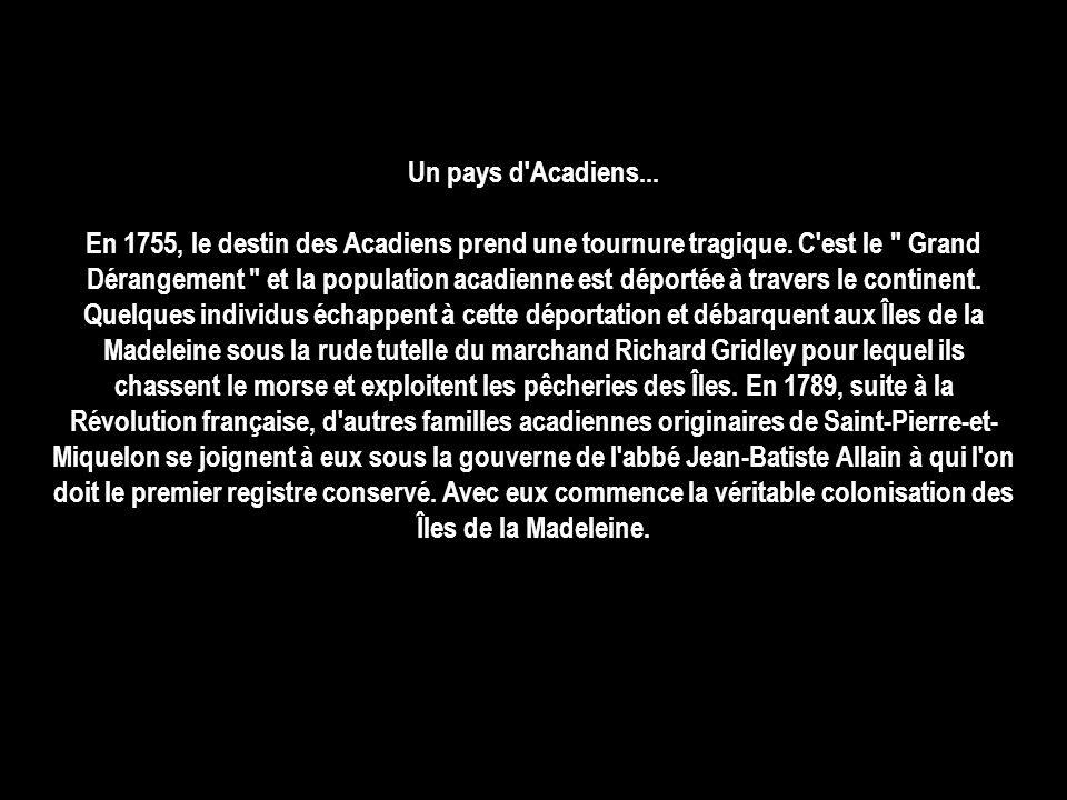 Un pays d Acadiens...