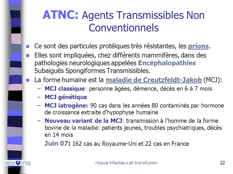 ATNC: Agents Transmissibles Non Conventionnels
