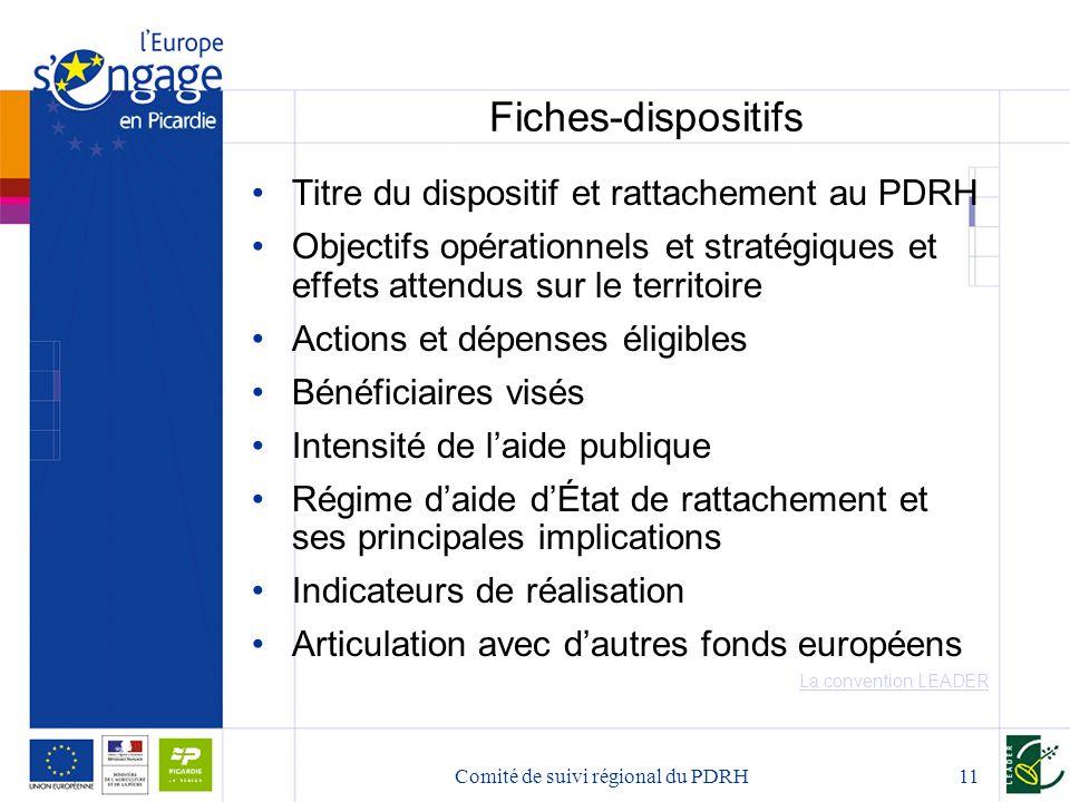 Comité de suivi régional du PDRH