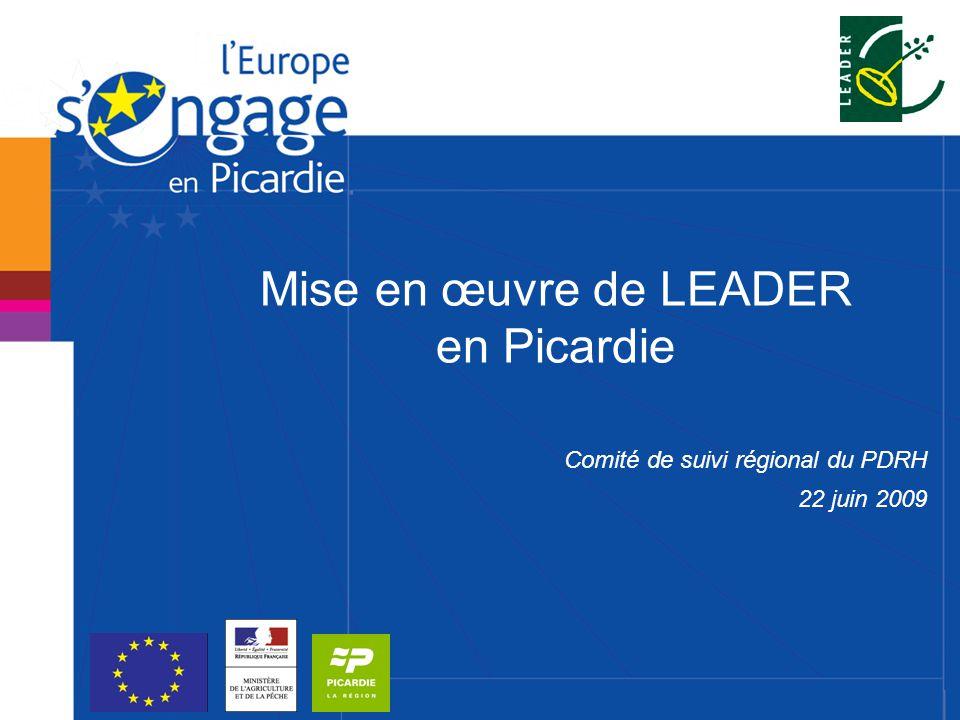 Mise en œuvre de LEADER en Picardie