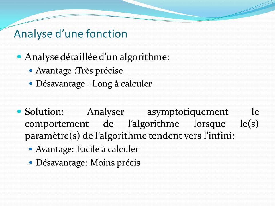 Analyse d'une fonction