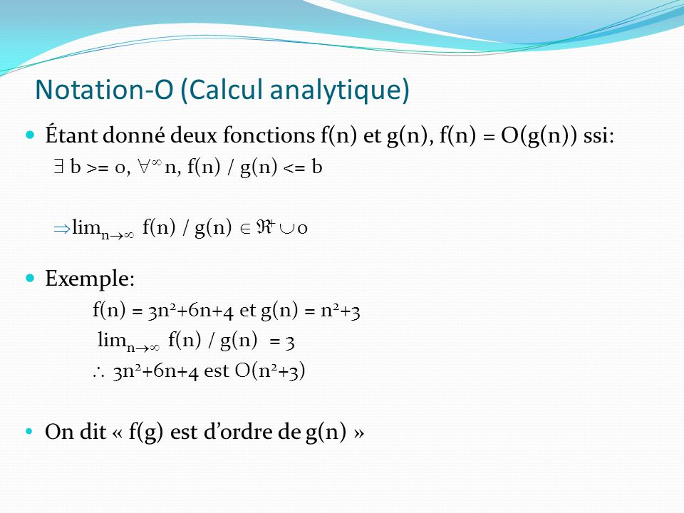 Notation-O (Calcul analytique)