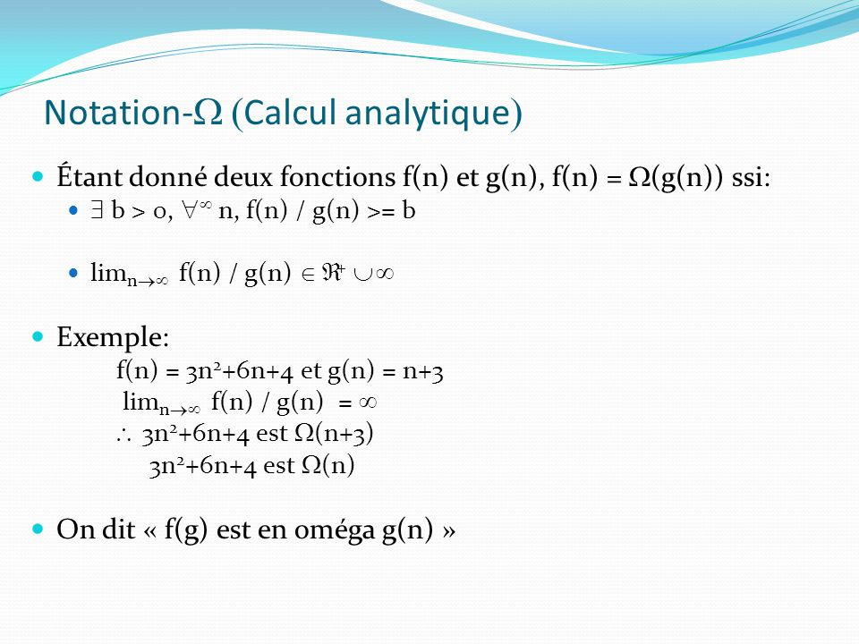 Notation-W (Calcul analytique)