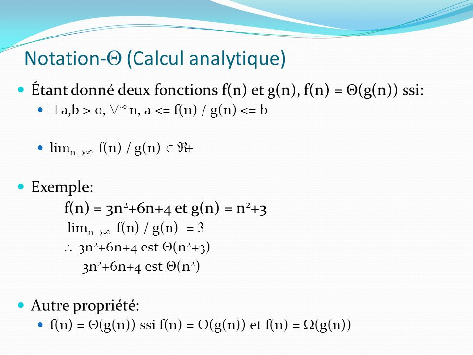 Notation-Q (Calcul analytique)