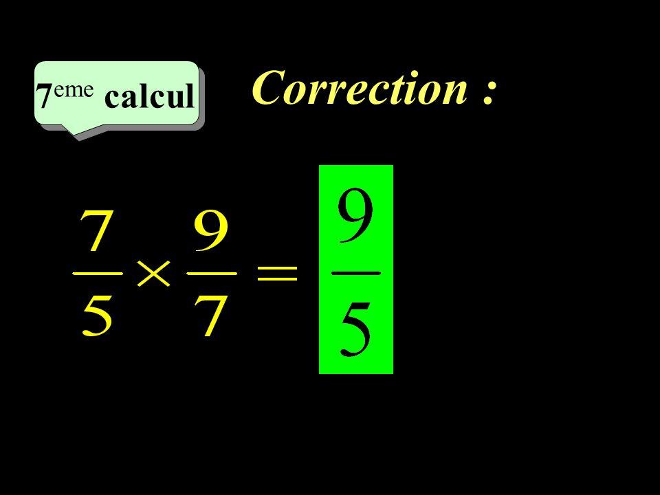 Correction : 7eme calcul 7eme calcul 1 20
