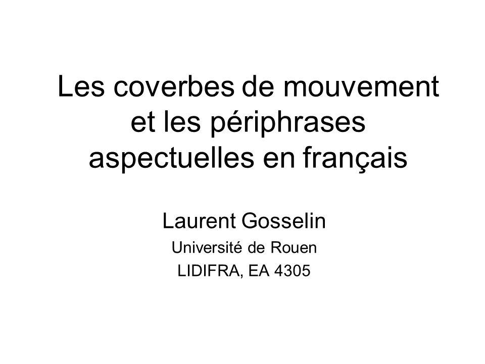 Les coverbes de mouvement et les périphrases aspectuelles en français