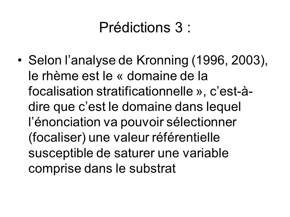 Prédictions 3 :