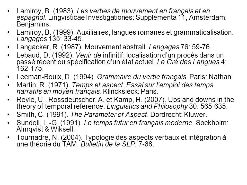 Lamiroy, B. (1983). Les verbes de mouvement en français et en espagnol