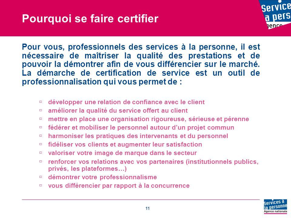 Pourquoi se faire certifier