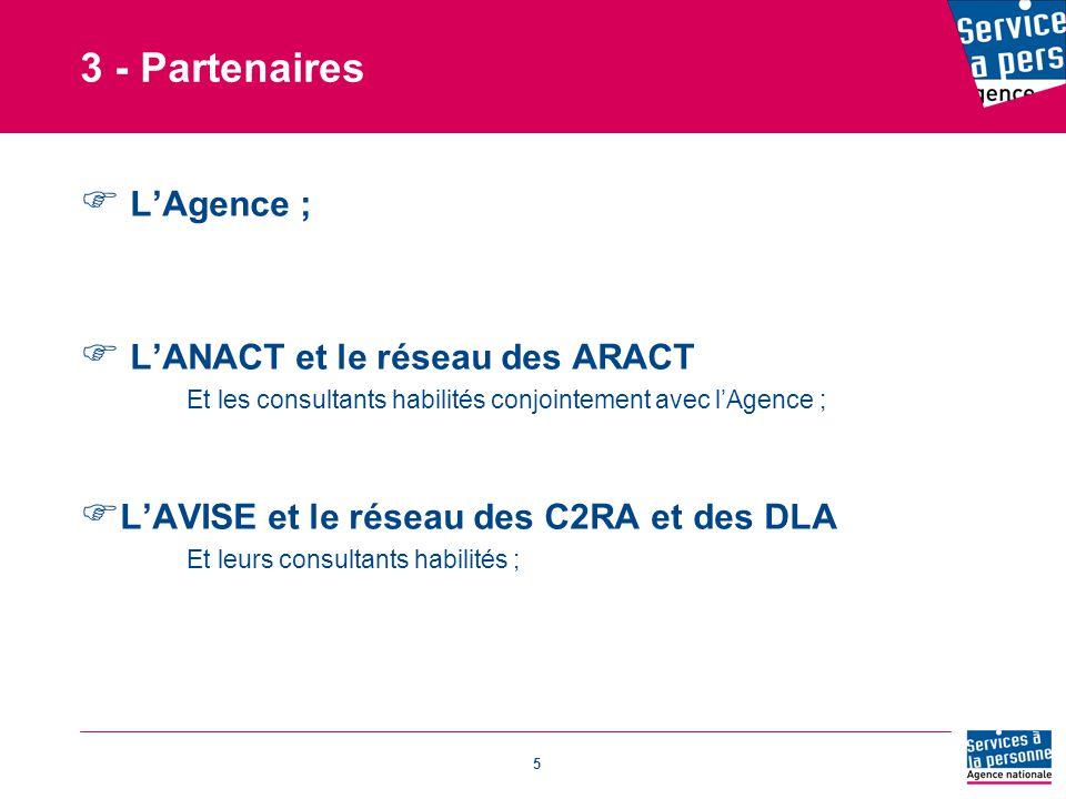 3 - Partenaires L'Agence ; L'ANACT et le réseau des ARACT