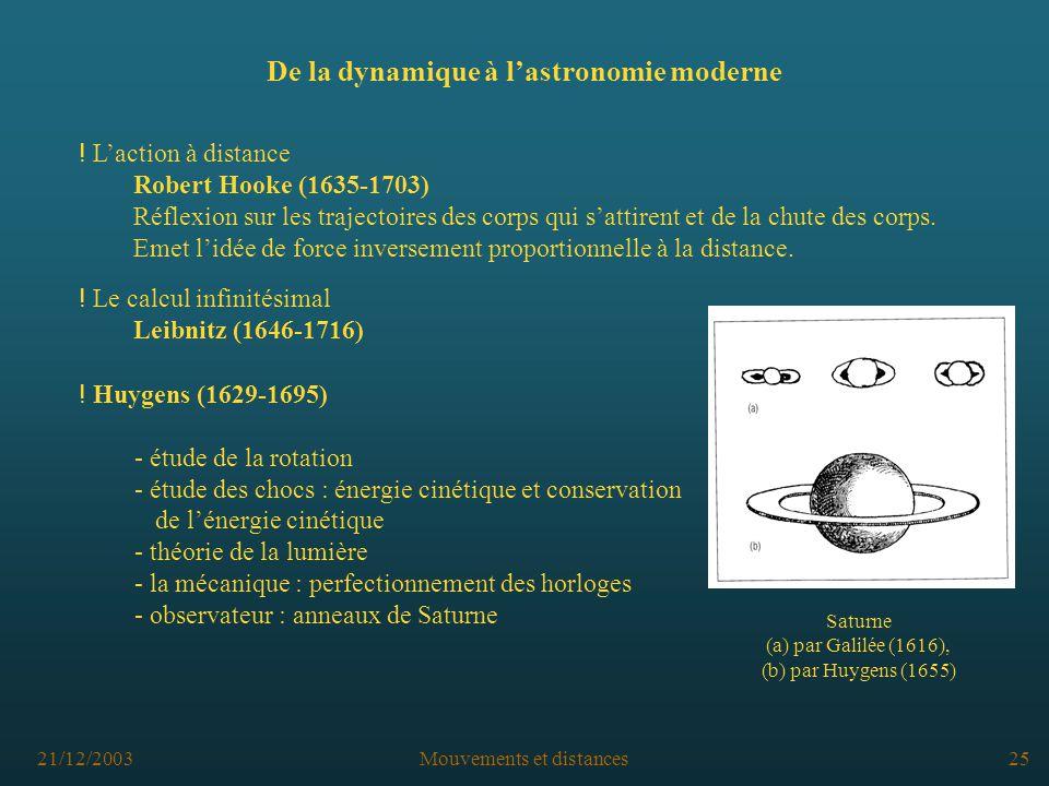 De la dynamique à l'astronomie moderne