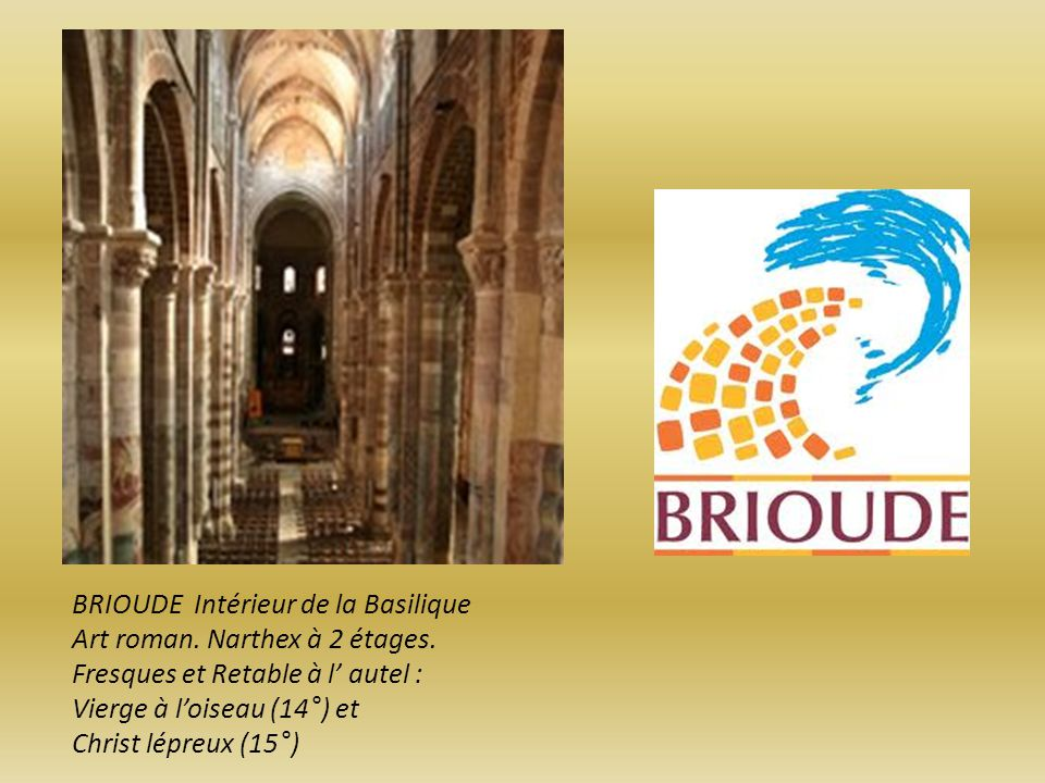 BRIOUDE Intérieur de la Basilique