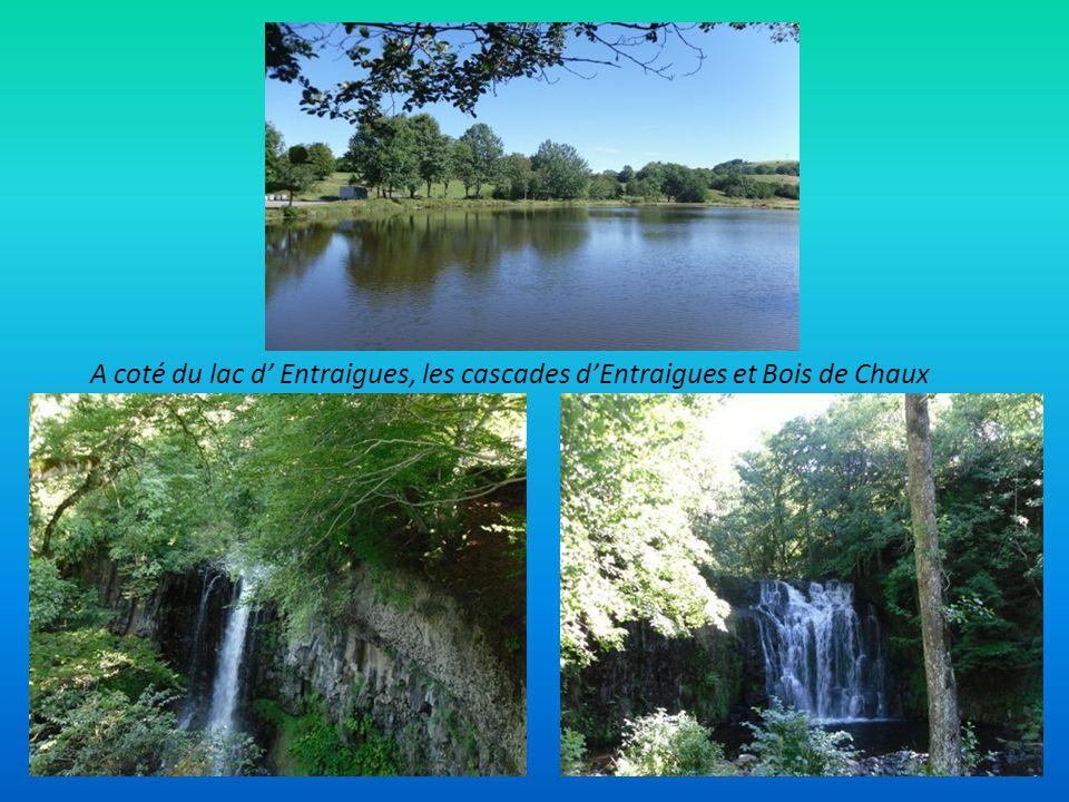 A coté du lac d' Entraigues, les cascades d'Entraigues et Bois de Chaux