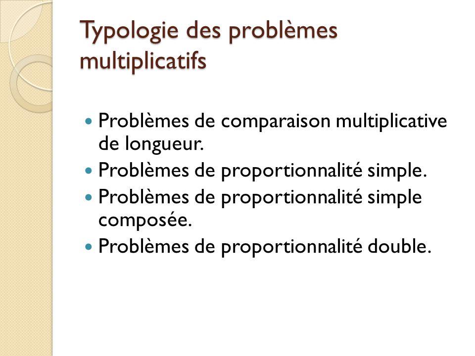 Typologie des problèmes multiplicatifs
