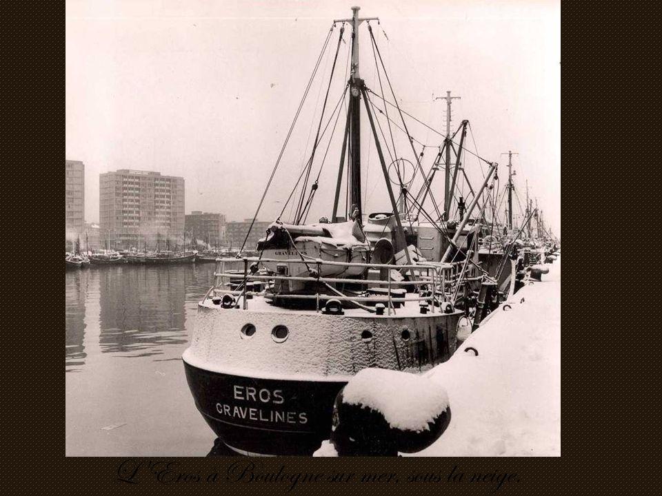 L Eros à Boulogne sur mer, sous la neige.