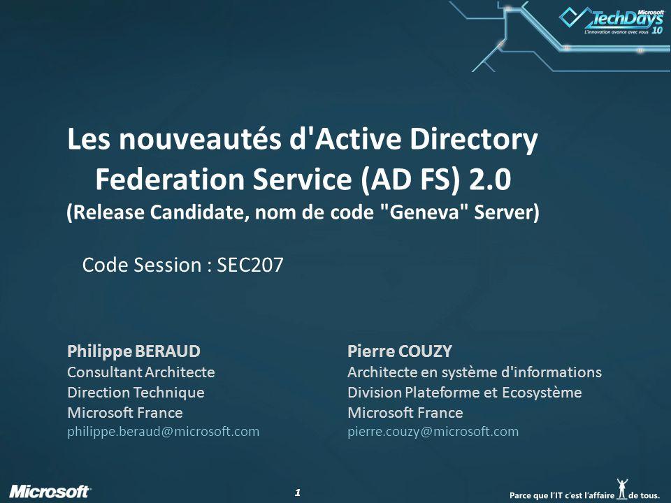 Les nouveautés d Active Directory Federation Service (AD FS) 2