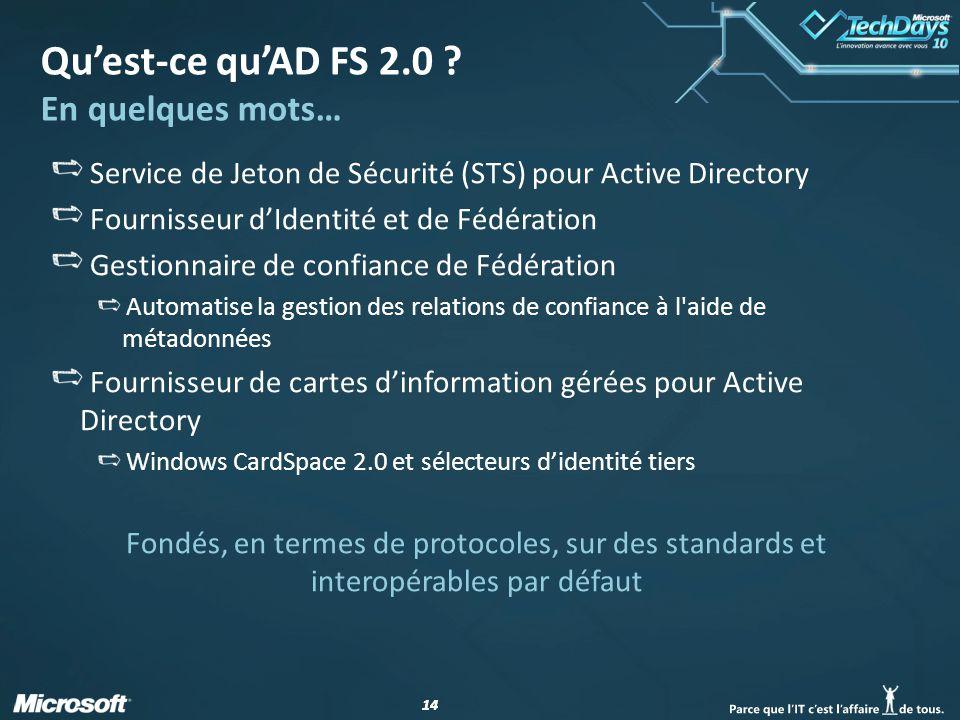 Qu'est-ce qu'AD FS 2.0 En quelques mots…