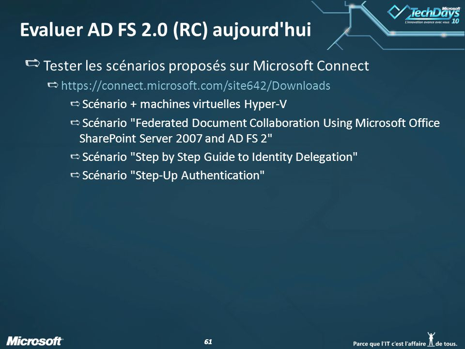 Evaluer AD FS 2.0 (RC) aujourd hui