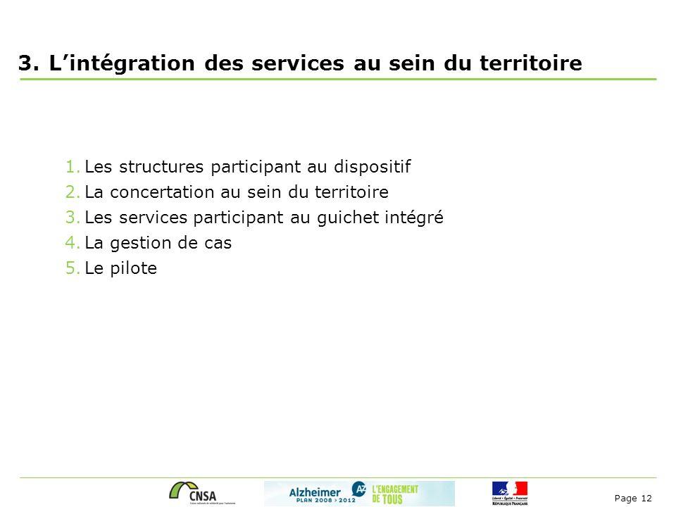 L'intégration des services au sein du territoire