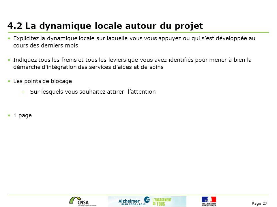 4.2 La dynamique locale autour du projet