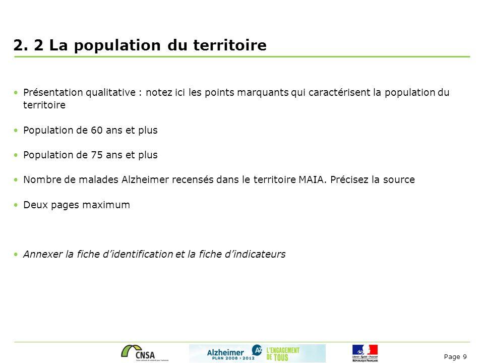 2. 2 La population du territoire