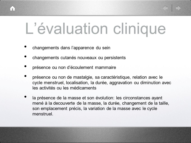 L'évaluation clinique