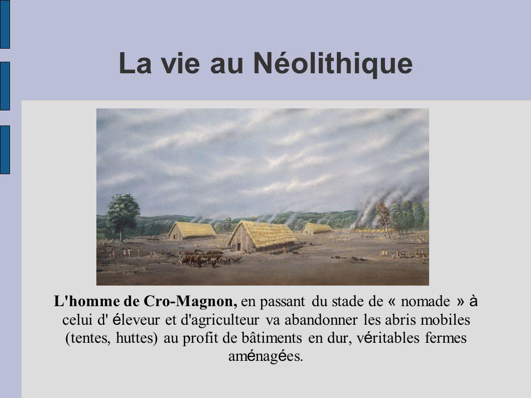 La vie au Néolithique