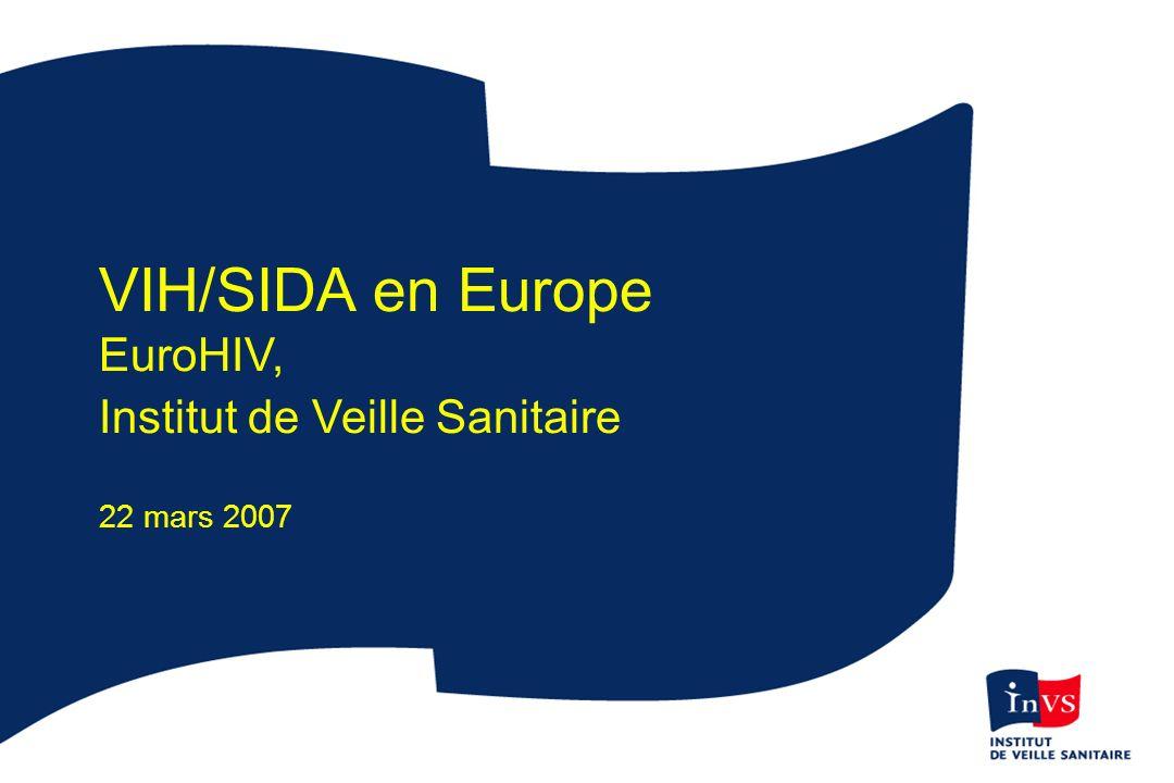 VIH/SIDA en Europe EuroHIV, Institut de Veille Sanitaire 22 mars 2007
