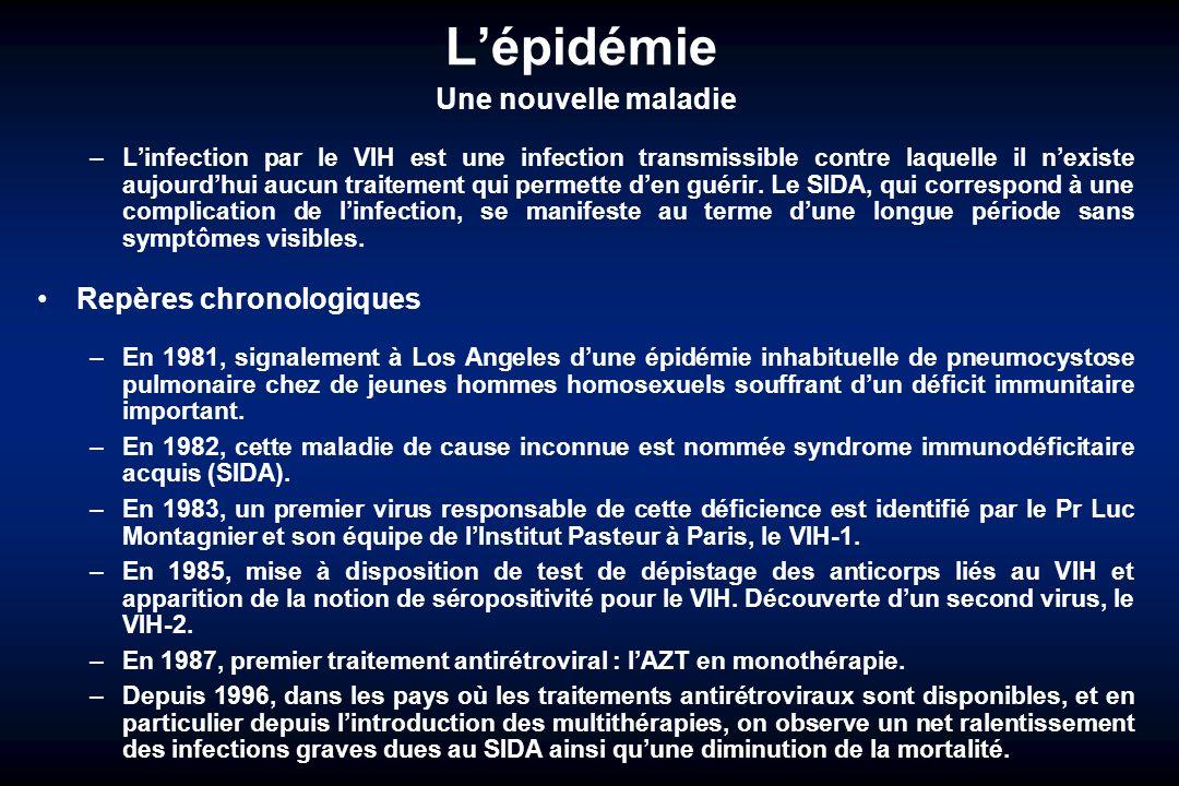 L'épidémie Une nouvelle maladie Repères chronologiques