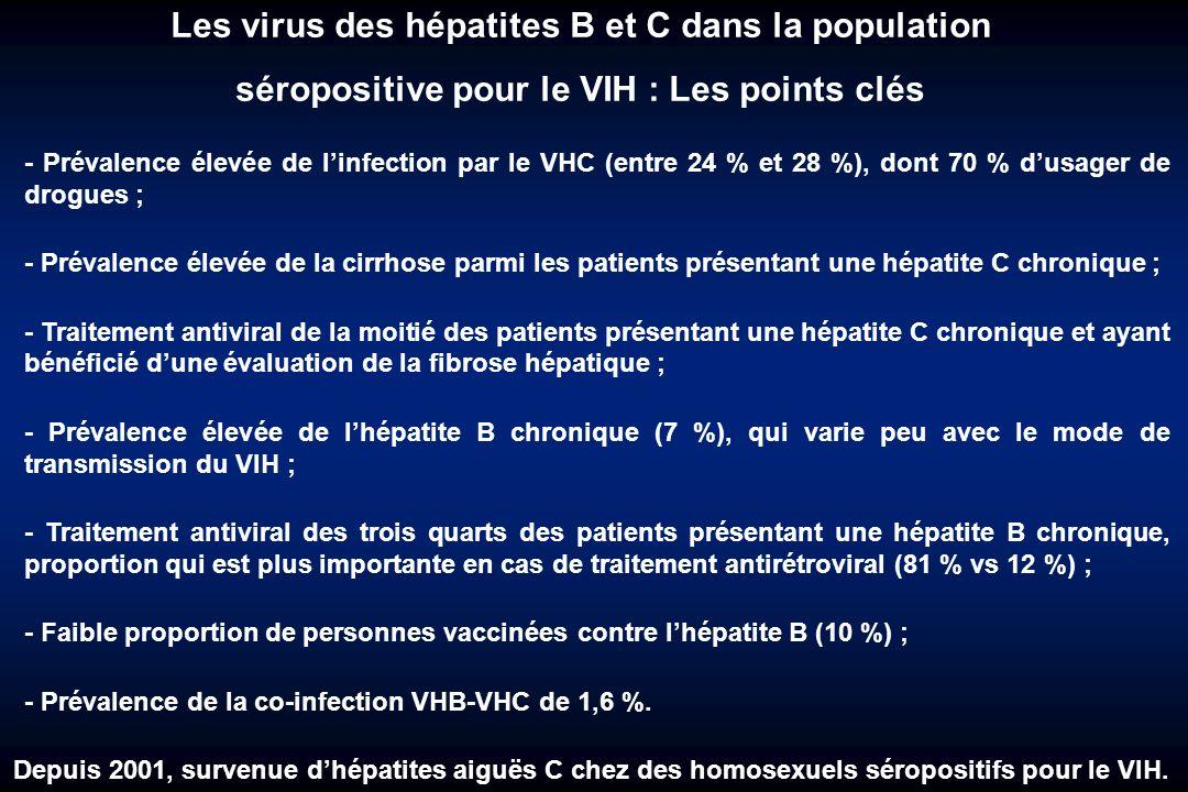 Les virus des hépatites B et C dans la population