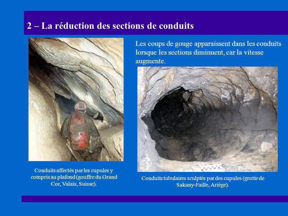 2 – La réduction des sections de conduits